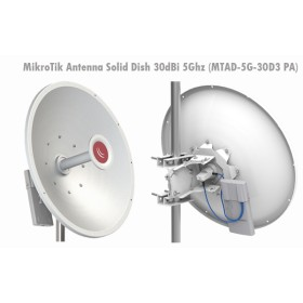 MikroTik MTAD-5G-30D3-PA 5GHz 30dBi Dish Precision Align Mount