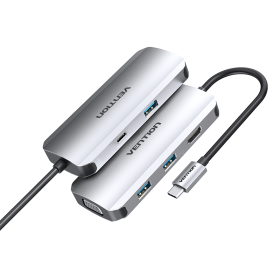 Vention USB type c to multi function 6 in 1 docking station