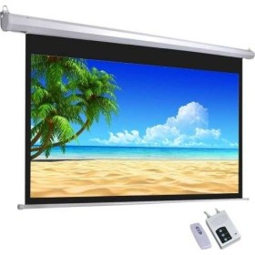300 by 300 electric projector screen