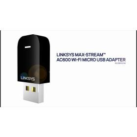 Linksys WUSB6100M Max-Stream AC600 Wi-Fi Micro USB Adapter