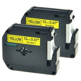 Brother M-K631 12mm Black on Yellow tape