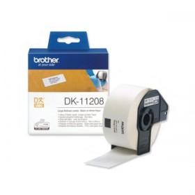 Brother DK-11208 black on white tape