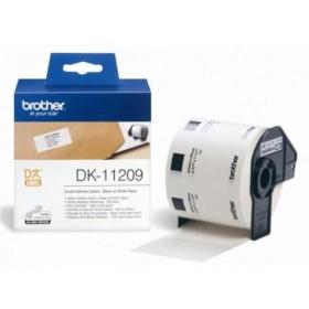Brother DK-11209 Black on White tape