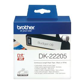 Brother DK-22205 Black on white tape