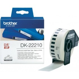 Brother DK-22210 Black on white tape