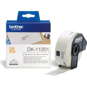 Brother DK-11201 Black on white tape