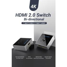 Vention 2-Port HDMI Bi-Direction Switcher