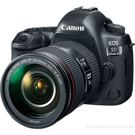 Canon EOS 5D mark IV DSLR camera with 24-105mm lens