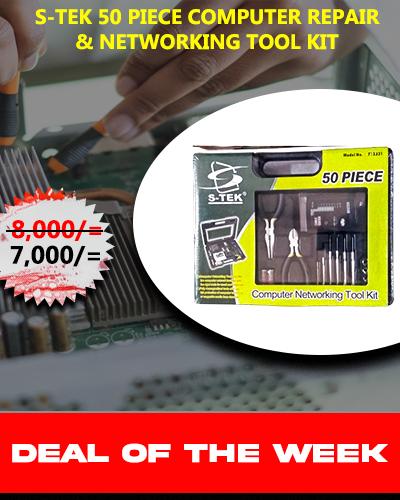 S-TEK 50 Pieces Computer & Networking repair Tool Kit